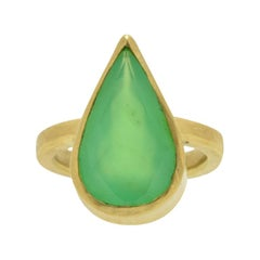 Chrysoprase Gold Cocktail Ring