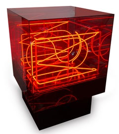 U.S.A., Neon Light Box Sculpture by Chryssa, 1962