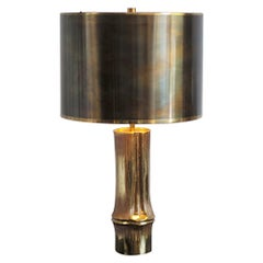 "Chrystiane Charles, Lamp ""Bambou"" in Gilded Bronze, France, 1970"