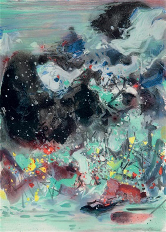 <i>Encre Orageuse</i>, 2008, by Chu Teh-Chun, offered by BOCCARA ART Inc.