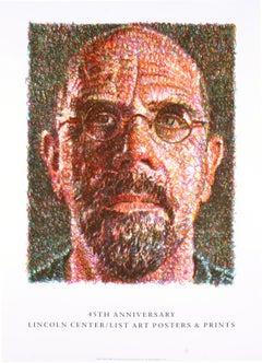 "Chuck Close-Self Portrait-42"" x 30""-Lithograph-2007-Realism-Brown-face"