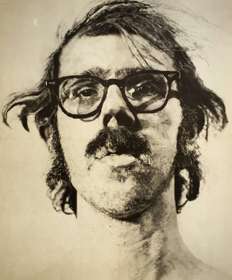 Vintage chuck close exhibit poster big self portrait for sale 1