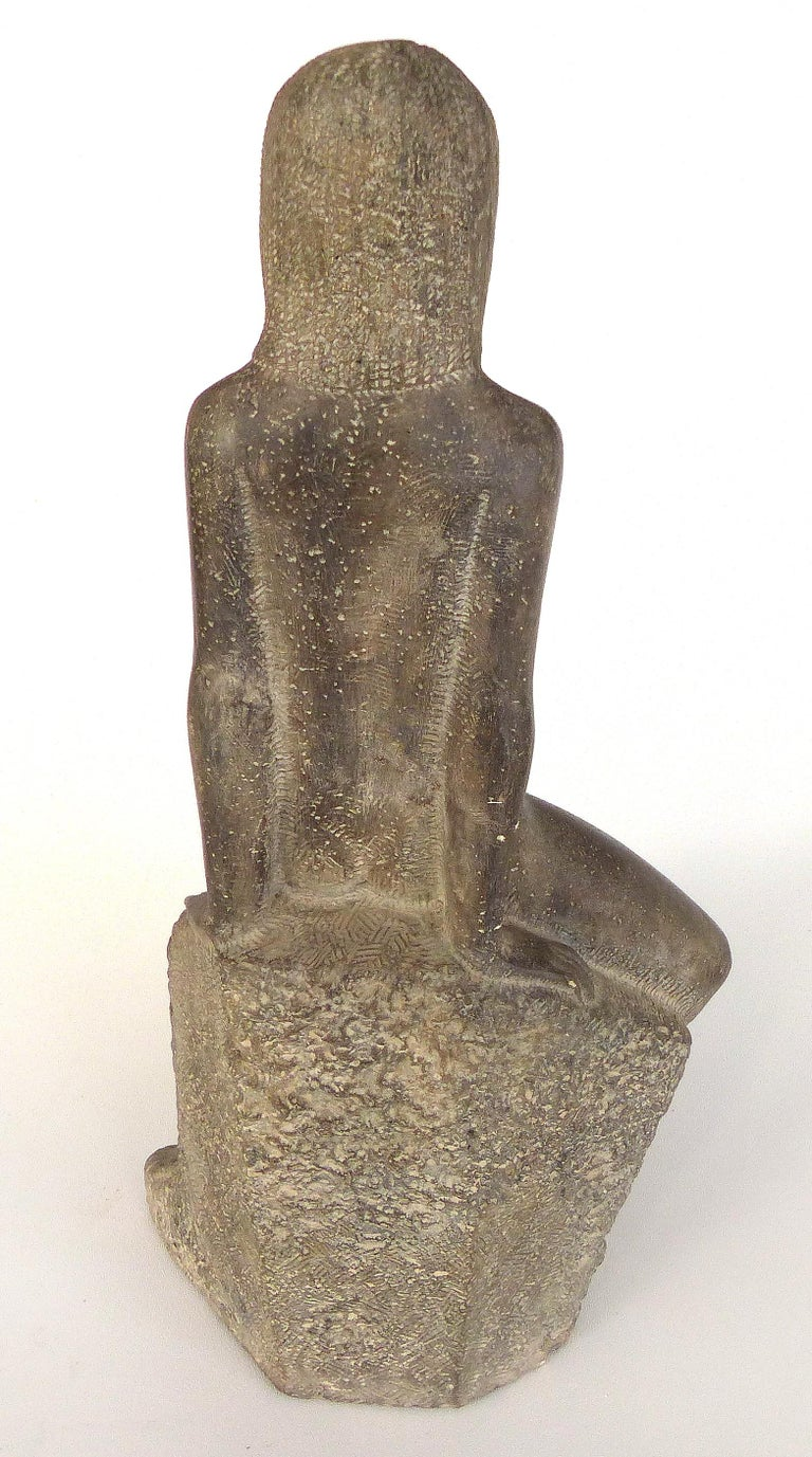 Chuck Dodson Cast Composition Sculpture of a Seated Nude, American, circa 1970s In Good Condition For Sale In Miami, FL