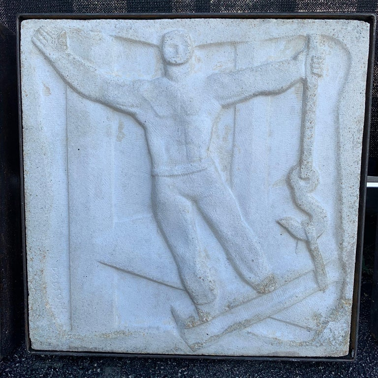 Chuck Dodson Wall-Mounted Bas-Relief Art Deco Plaque For Sale 1