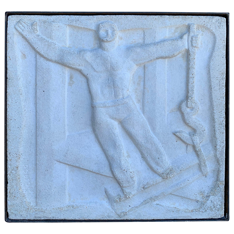 Chuck Dodson Wall-Mounted Bas-Relief Art Deco Plaque