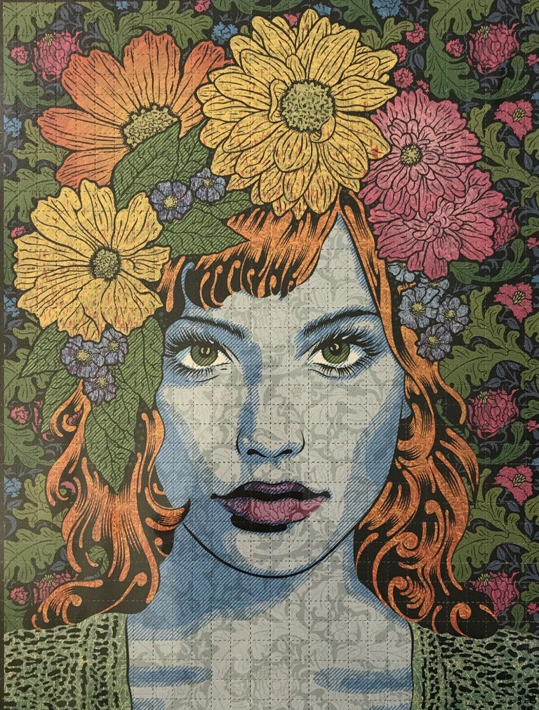 Chuck Sperry Empathy Blotter Edition Signed & Numbered Contemporary Art Portrait For Sale 1