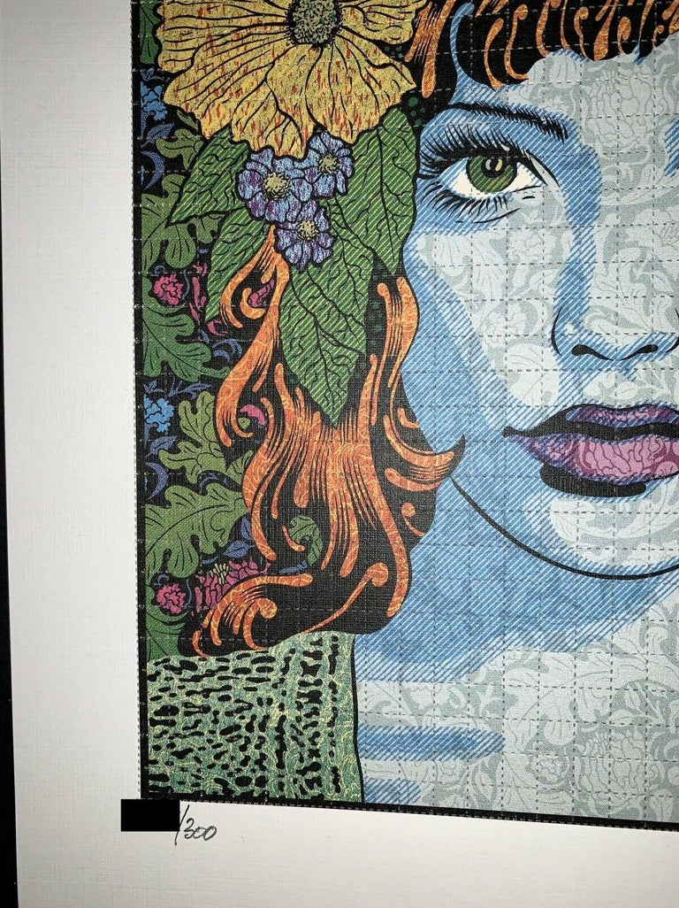 Chuck Sperry Empathy Blotter Edition Signed & Numbered Contemporary Art Portrait For Sale 3