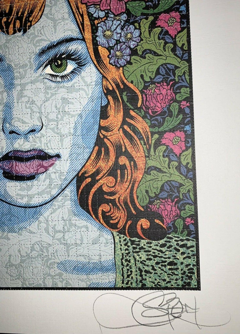 Chuck Sperry Empathy Blotter Edition Signed & Numbered Contemporary Art Portrait For Sale 4