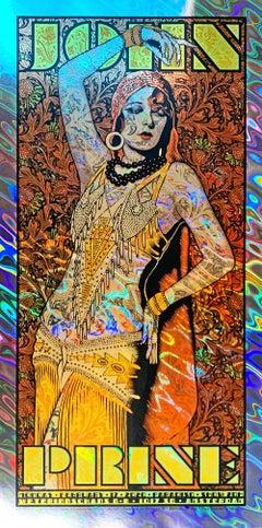 Chuck Sperry - John Prine - Paridisio - Lava Foil - Pop & Contemporary Pop Art