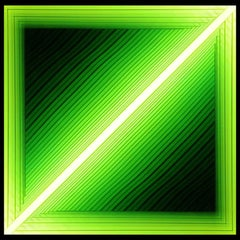 Forked (Diagonal Green)