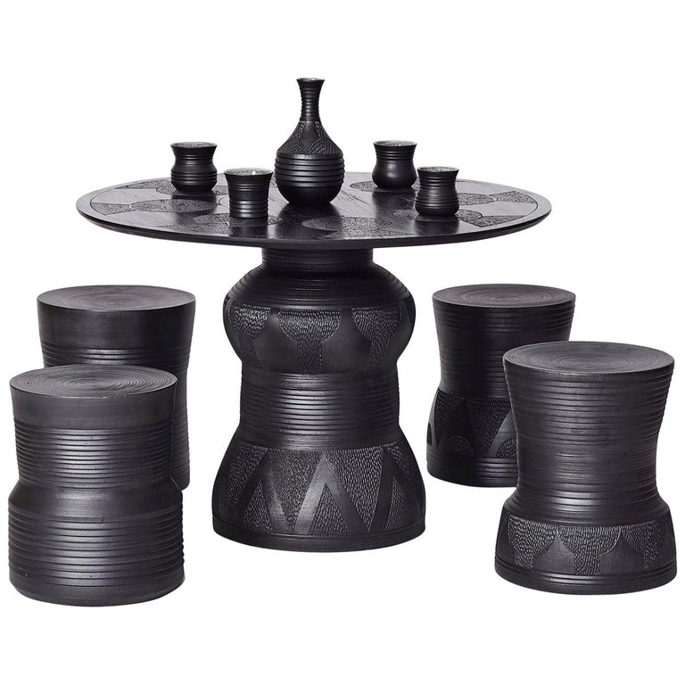 Chuma Maweni Imbizo stool and table set, 2018