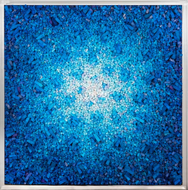 Aggregation 16-AU068 - Kwang Young Chun, korean, abstract, mulberry, relief, 3d - Contemporary Mixed Media Art by Chun Kwang Young