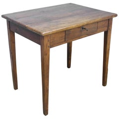 Chunky Antique Oak Side Table