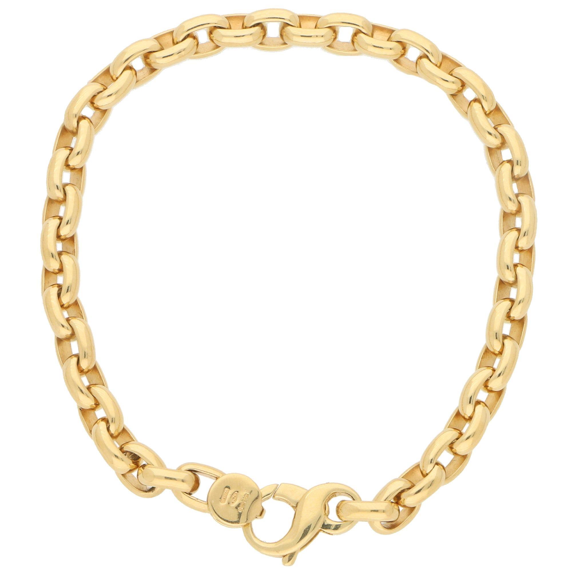 Chunky Chain Bracelet in 18 Karat Yellow Gold
