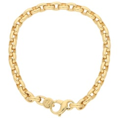Chunky Chain Bracelet in 18 Karat Yellow Gold