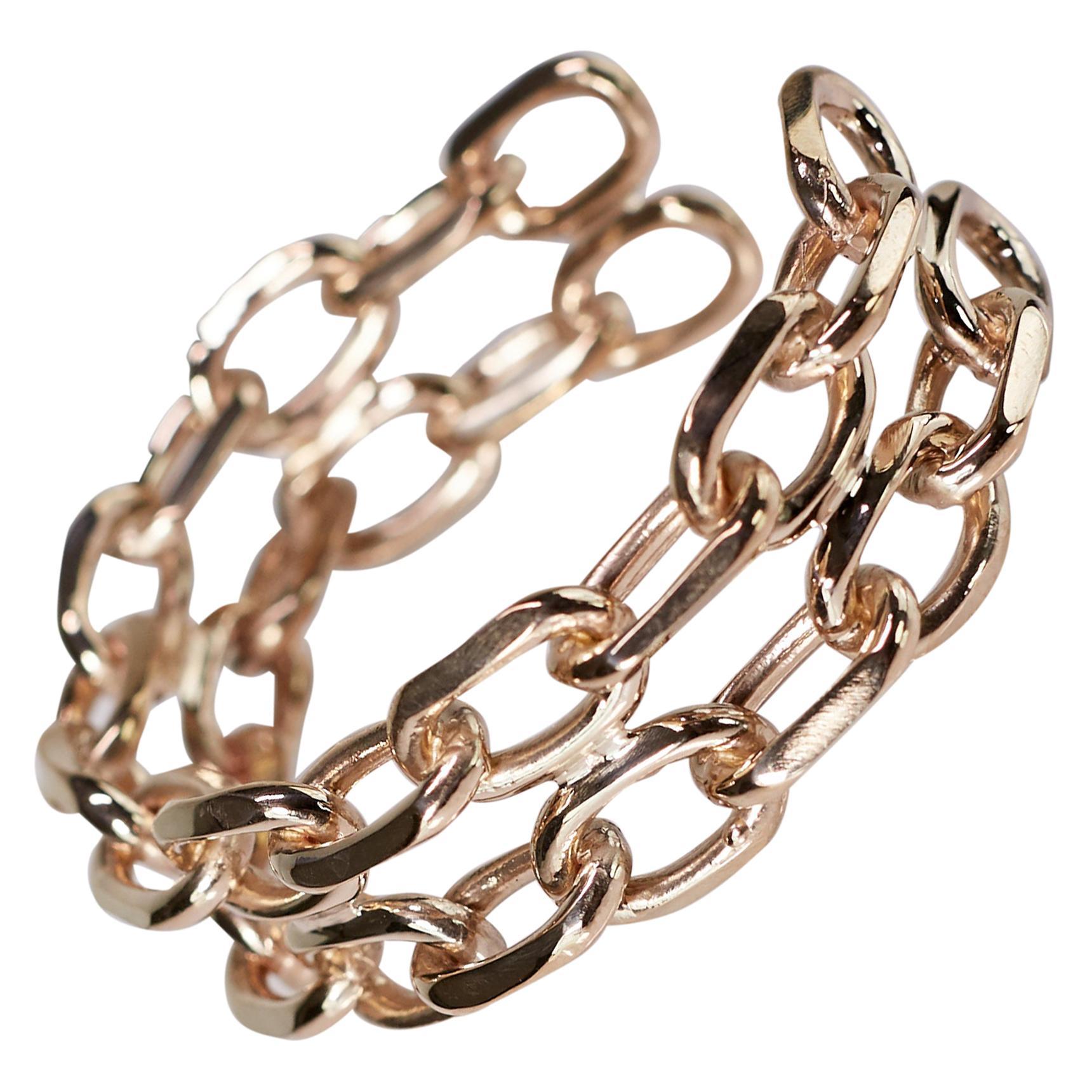 Chunky Chain Cuff Bangle Bracelet Bronze Statement Piece J Dauphin