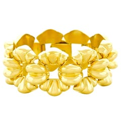 Chic 1950s Gay Freres Gold Bracelet