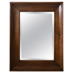 Chunky Handsome Solid Large Mahogany Wall Mirror