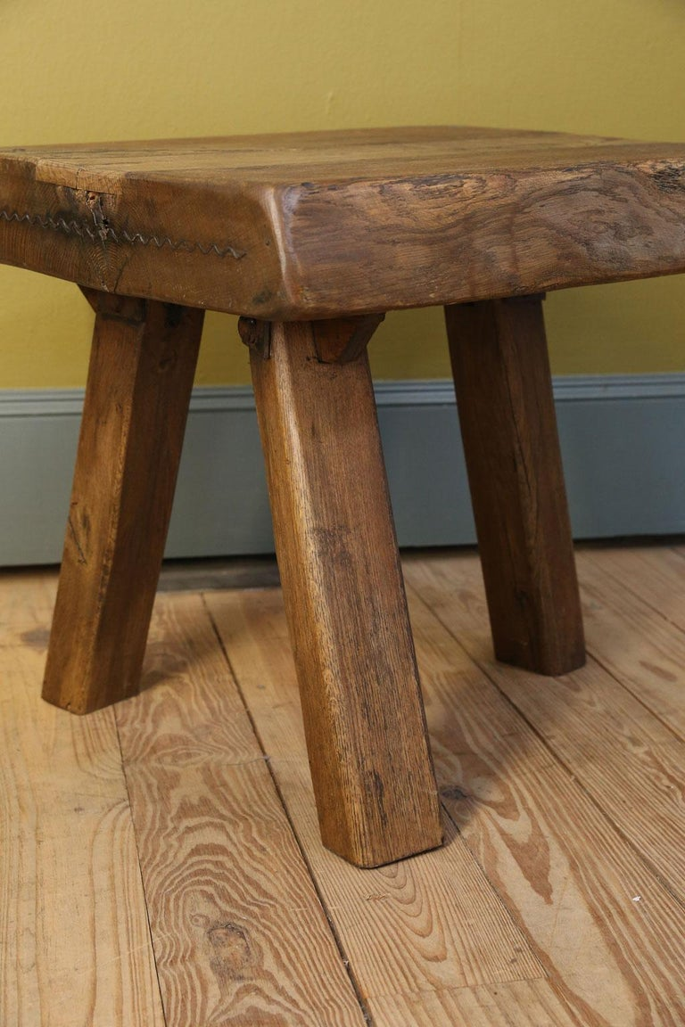 Mid-20th Century Chunky Massive Side Table or Stool For Sale