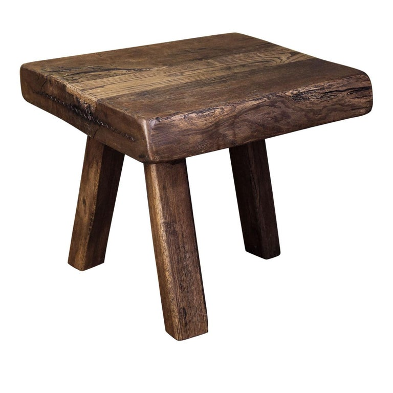 Chunky Massive Side Table or Stool For Sale