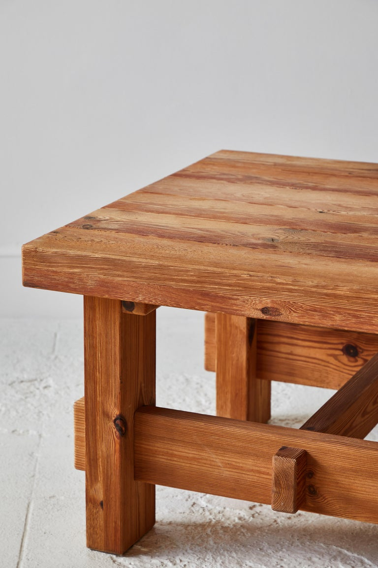 20th Century Chunky Pine Side Table For Sale