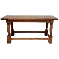 Chunky Solid Golden Oak Arts & Crafts Coffee Table