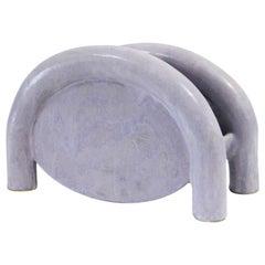 Chunky Tubular Ceramic Magazine Rack by BZIPPY in Lavender Milky Way Glaze