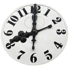 Church Metal Clock Face with Original Hand Forged Iron Hands