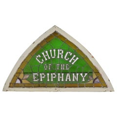 Church of Epiphany Tri Corn Stained Glass Window