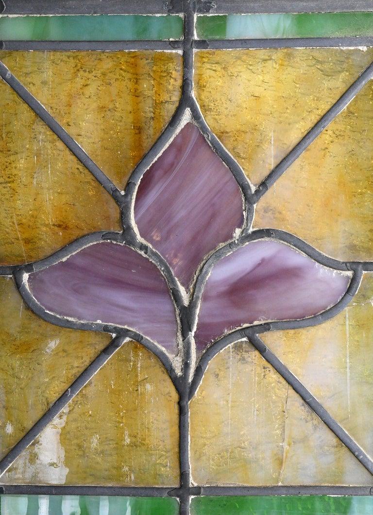 Early 20th Century Church Window with Fleur de Lis For Sale