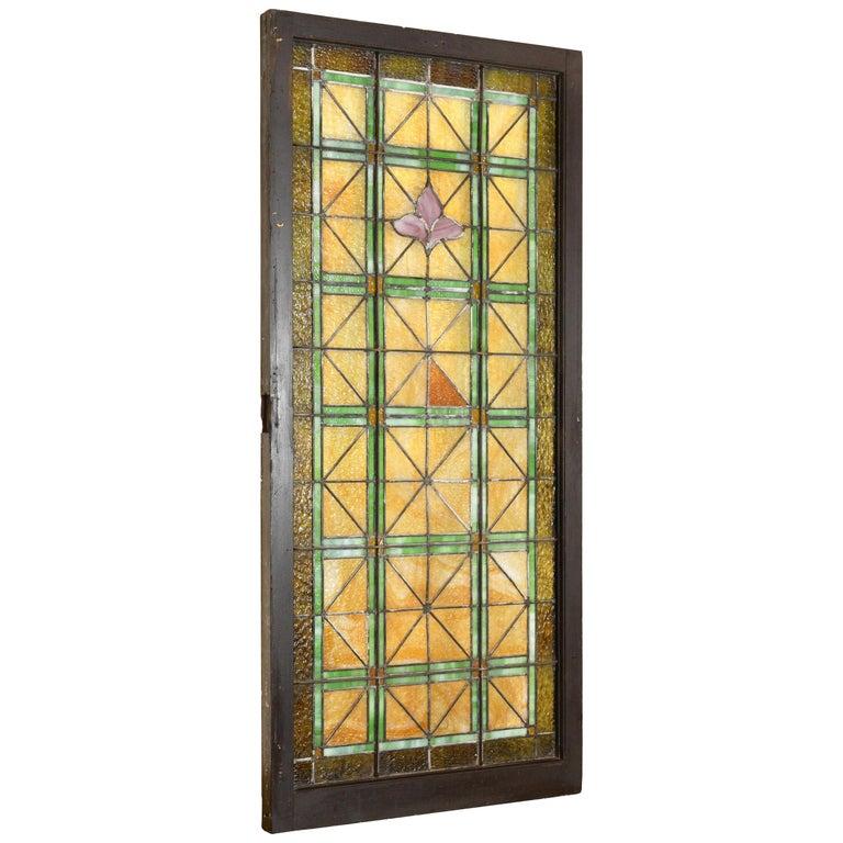 Church Window with Fleur de Lis For Sale