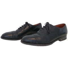 Church's Blue Leather Lace Up Shoes