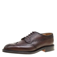 Church's Ebony Brown Brogue Leather Grafton Derby Size 44