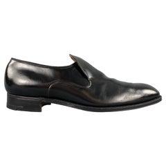CHURCH'S Rowan Size 13 Black Leather Slip On Loafers