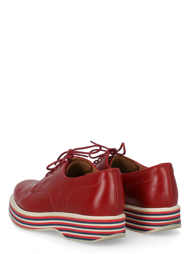 Church'S  Women   Lace-up  Red Leather EU 37 In Good Condition For Sale In Milan, IT