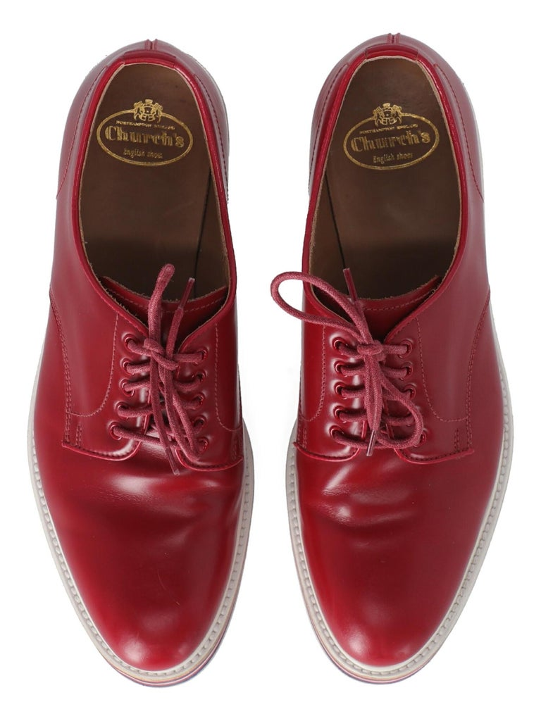 Church'S  Women   Lace-up  Red Leather EU 37 For Sale 1