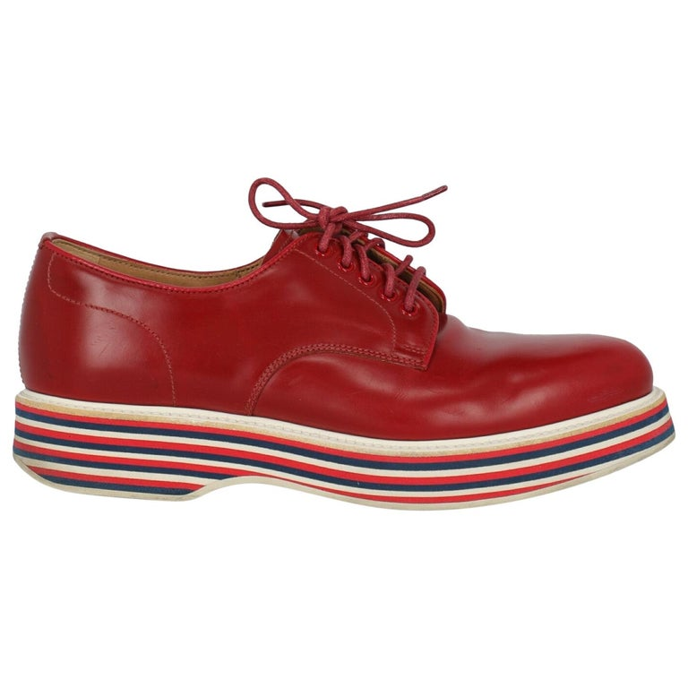 Church'S  Women   Lace-up  Red Leather EU 37 For Sale