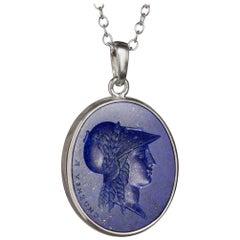 Chushev Athena Lapis Lazuli Sterling Silver Pendant