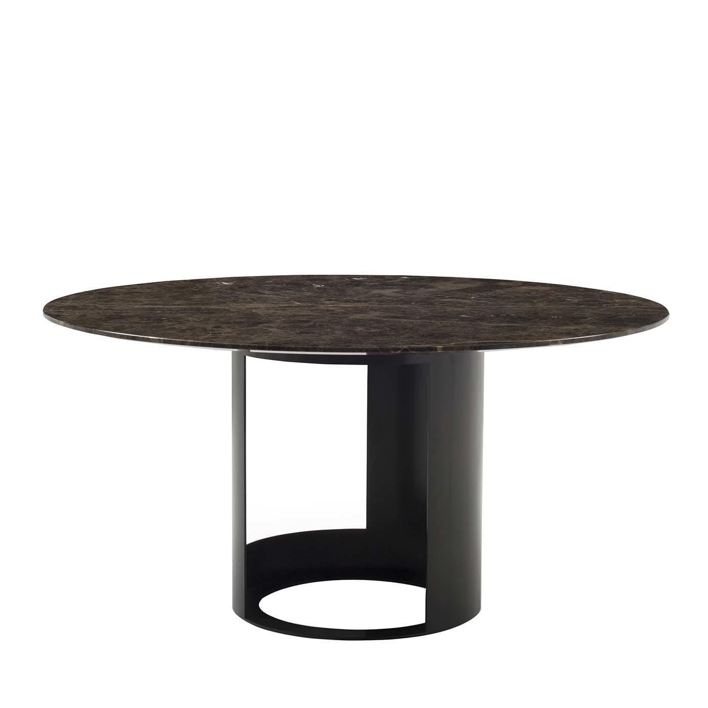 Ci Dining Table in Brown Emperador Marble