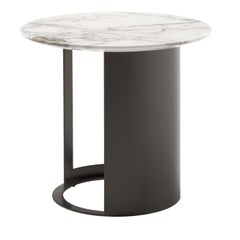 Ci Side Table in Gold Calacatta Marble