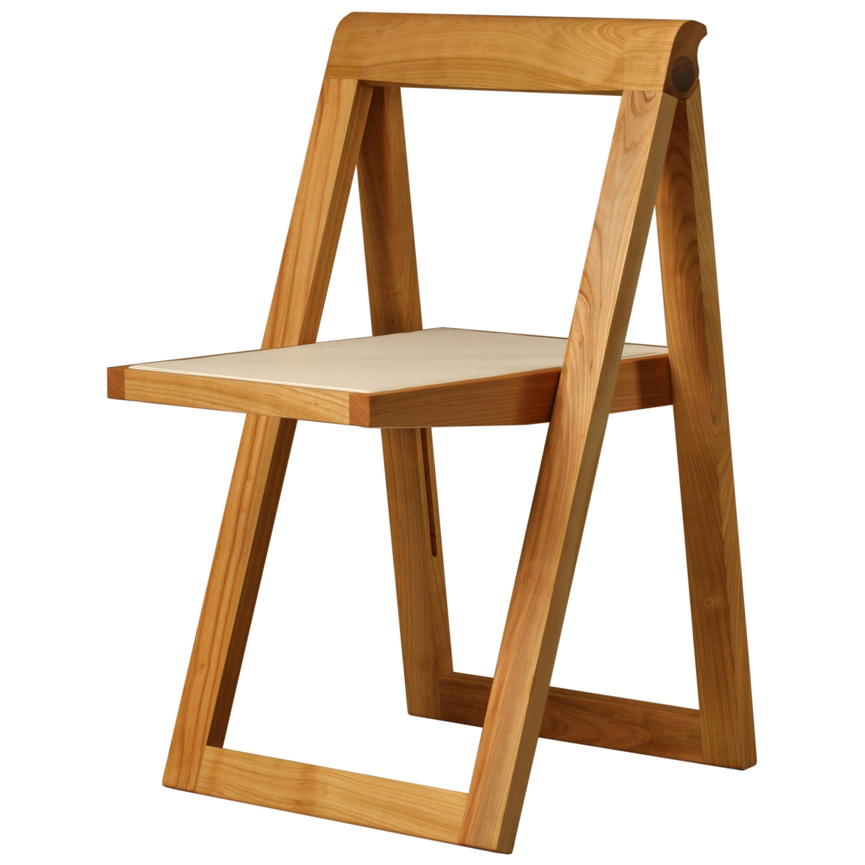 Ciak Folding Chair in Ashwood by Morelato
