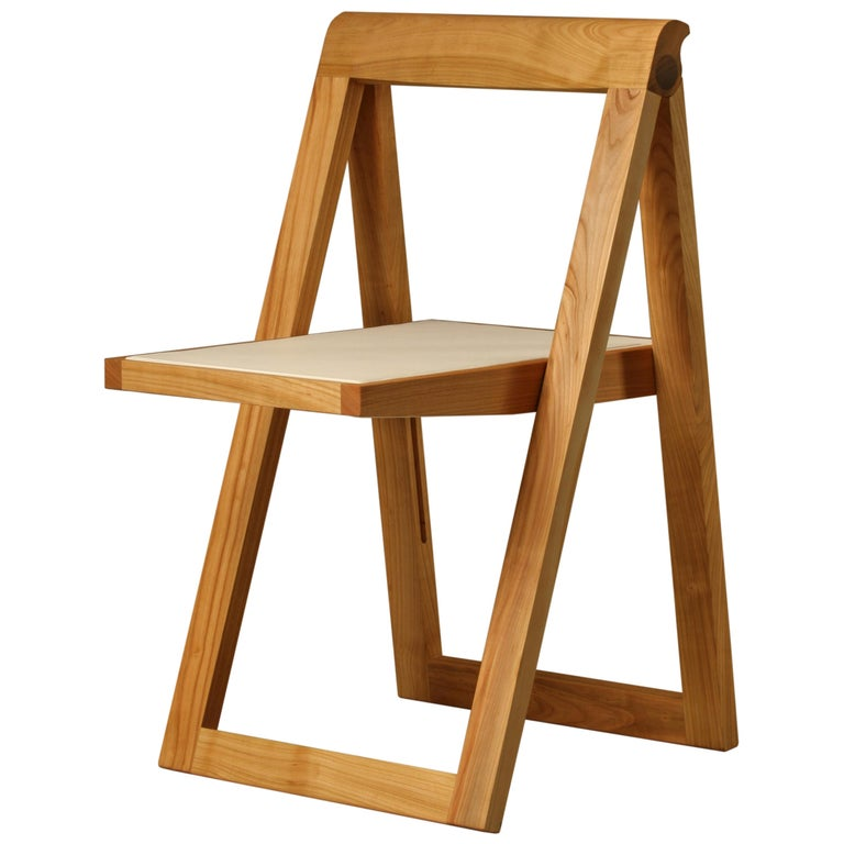 Ciak Folding Chair in Ashwood by Morelato For Sale