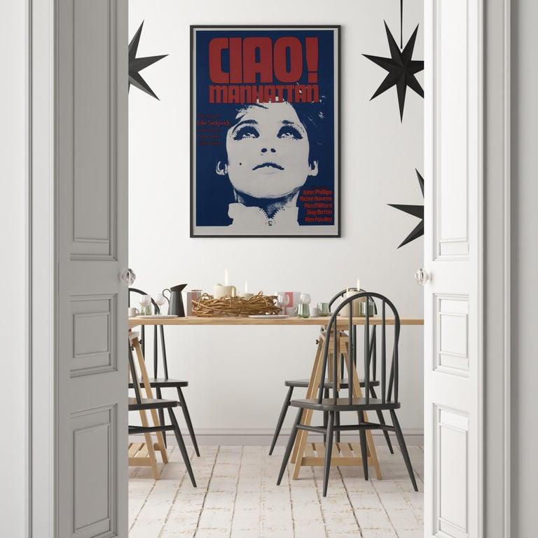 Post-Modern Edie Sedgwick 'Ciao! Manhattan' Original Vintage Movie Poster, British, 1973 For Sale