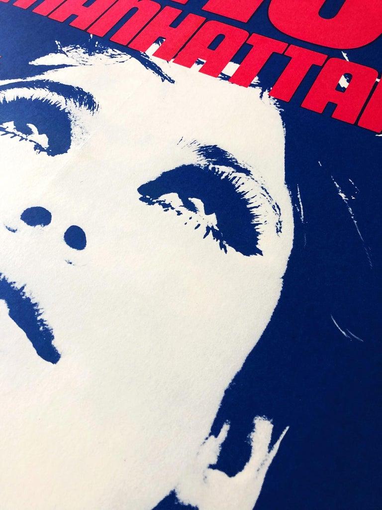 Edie Sedgwick 'Ciao! Manhattan' Original Vintage Movie Poster, British, 1973 In Good Condition For Sale In London, GB