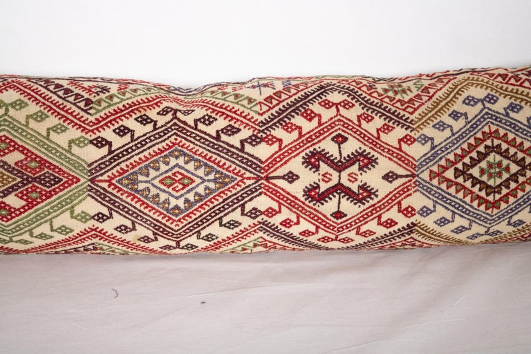 Turkish Cicim Body Pillow Fashioned from an Anatolian Cicim Kilim, 1930s For Sale