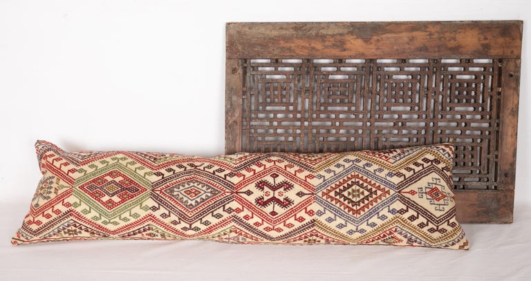 20th Century Cicim Body Pillow Fashioned from an Anatolian Cicim Kilim, 1930s For Sale
