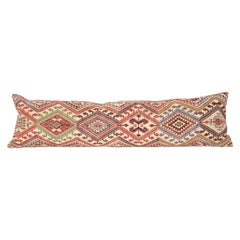 Cicim Body Pillow Fashioned from an Anatolian Cicim Kilim, 1930s