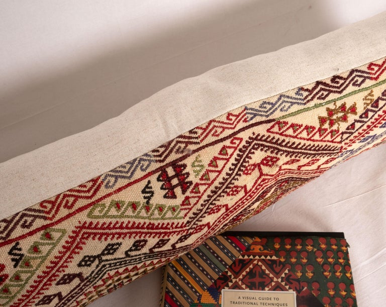 Wool Cicim Body Pillow Fashioned from an Anatolian Cicim Kilim, 1930s For Sale