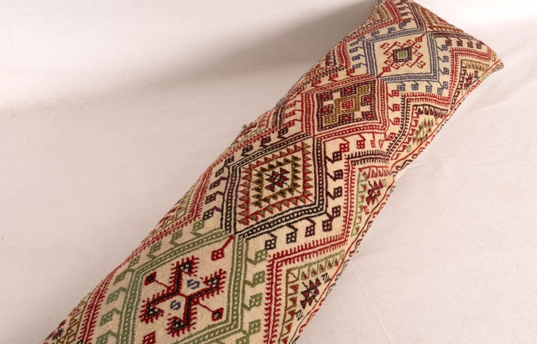 Cicim Body Pillow Fashioned from an Anatolian Cicim Kilim, 1930s For Sale 1
