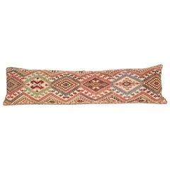 Cicim Body Pillow Fashioned from an Anatolian Cicim Kilim, 1930s